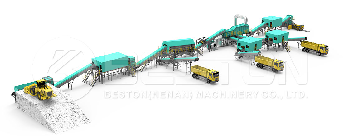 Layout of Trash Sorting Machine