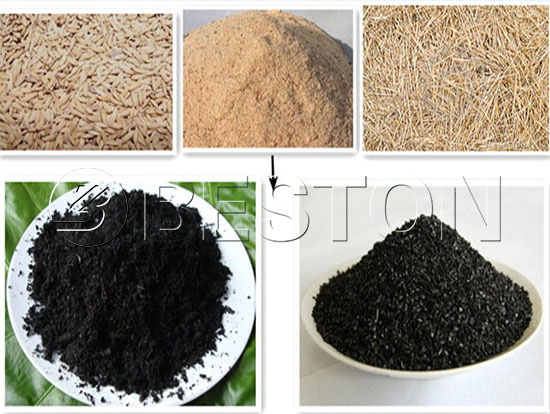 Charcoals from Different Biomass Wastes
