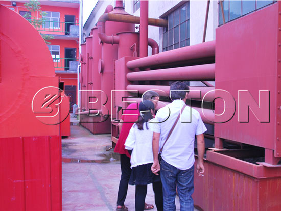 Tunisia Clients Were Visiting Beston Biomass Pyrolysis Plant