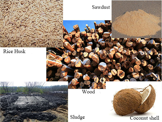 Various Raw Materials of Beston Charcoal Making Equipment