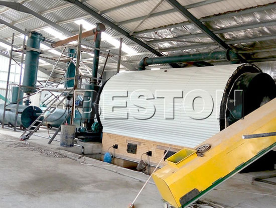 Beston Waste Tyre Recycling Plant Was Installed in Jordan