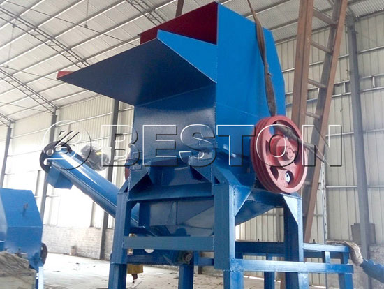 plastic recycling plant machinery