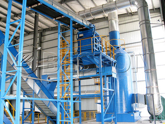 Deodorant System in MSW Recycling Plant