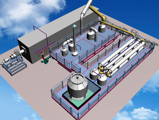 3D Picture of BLL-50 Plastic into Diesel Machine
