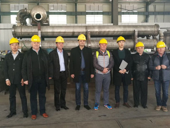 Romanian Visited the Beston Factory