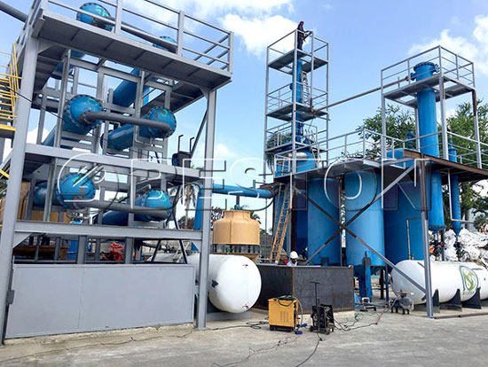 BLJ-06 Plastic Pyrolysis Plant in Dominica