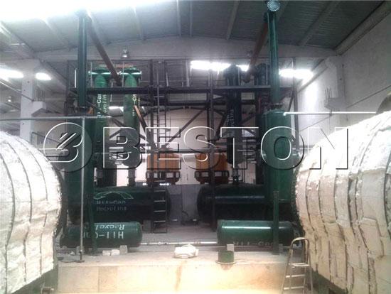 Batch Tyre Pyrolysis Plant in Turkey