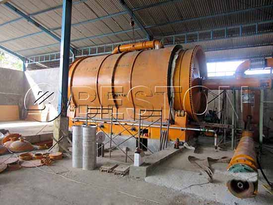 BLJ-10 Waste Tyre Pyrolysis Plant in Indonesia