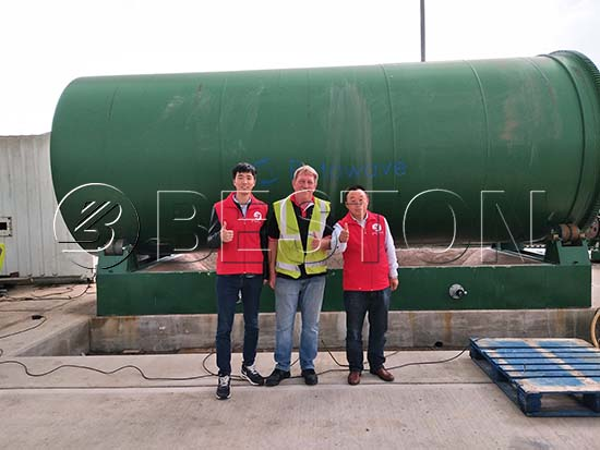 Waste Tyre Pyrolysis Plant in the UK