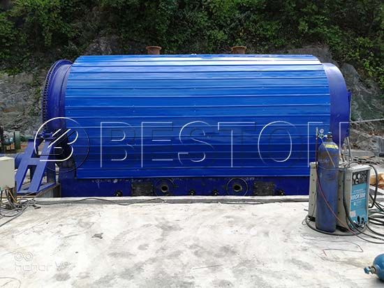 Waste Rubber Pyrolysis Plant in Korea