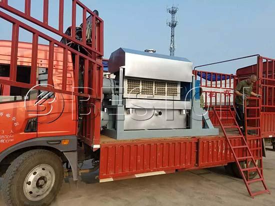 Semi-automatic Egg Tray Machine To Hungary