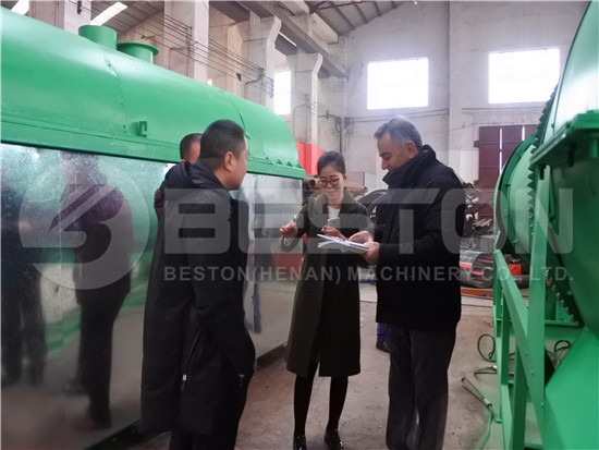 Customers Visit Beston Charcoal Machine on Site