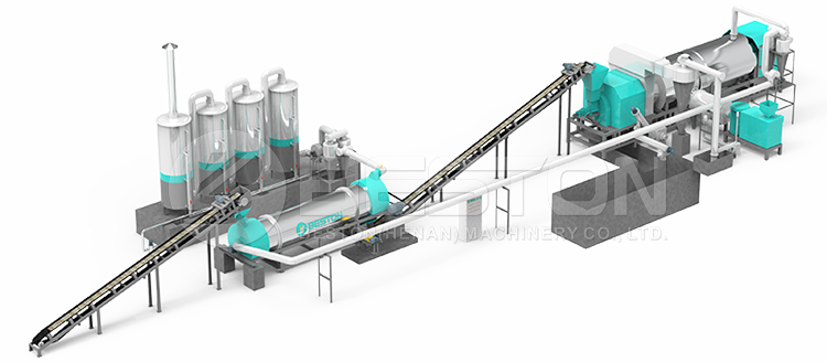 Wood Charcoal Making Machine Design