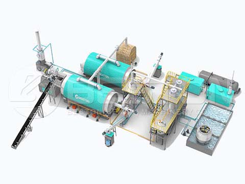 One Pyrolysis System With Two Reactors