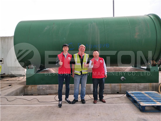 Beston Tyre Pyrolysis Plant in the UK
