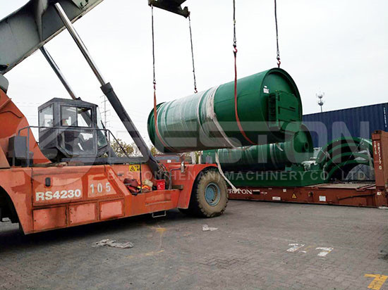 Tyre Pyrolysis Plant to Canada