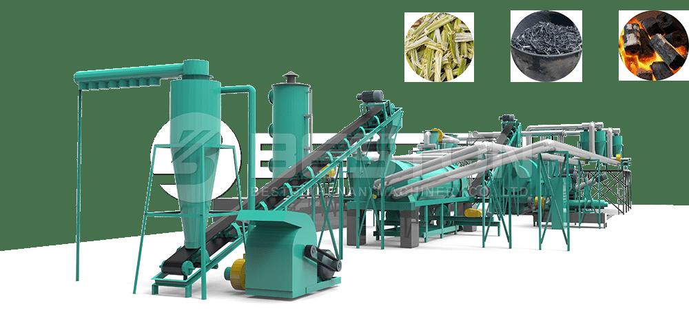 Sugarcane Charcoal Making Machine