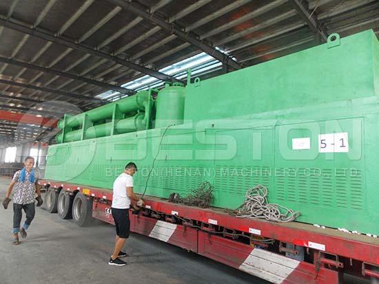Tire Recycling Machine to Romania